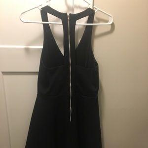 She and Sky Dresses - Black zipper dress